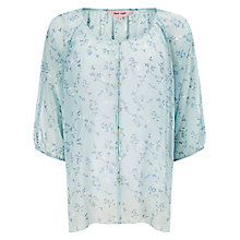 Buy Phase Eight Della Bird Print Blouse, Mint Online at johnlewis.com