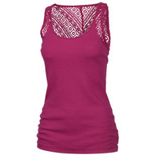 Buy Fat Face Lace Back Vest, Berry Zest Online at johnlewis.com