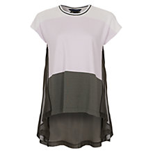 Buy French Connection Sicily Stripe Top, Crystal Clear Online at johnlewis.com