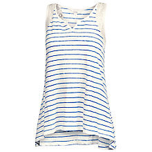 Buy Fat Face Stonewash Linen Stripe Vest, Stonewash Online at johnlewis.com
