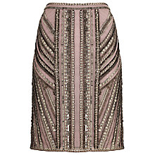 Buy Phase Eight Ena Beaded Pencil Skirt, Putty Online at johnlewis.com
