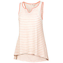 Buy Fat Face Linen Stripe Vest, Peach Shell Online at johnlewis.com