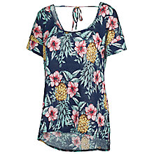 Buy Fat Face Linen Pineapple Punch T-Shirt, Navy Online at johnlewis.com