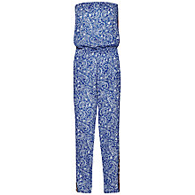 Buy French Connection Bali Flower Border Jumpsuit, Blue Online at johnlewis.com