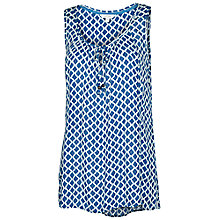 Buy Fat Face Kingston Batik Top, Indigo Online at johnlewis.com