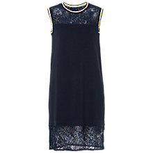 Buy French Connection Fast Hannah Lace Short Sleeved Dress, Utility Blue Multi Online at johnlewis.com