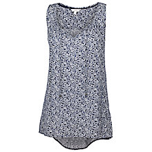 Buy Fat Face Kingston Flower Top, Navy Online at johnlewis.com