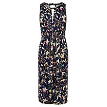 Buy Oasis Maltby Midi Dress, Navy/Multi Online at johnlewis.com