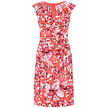 Buy Adrianna Papell Watercolour Dress, Pink/Multi Online at johnlewis.com