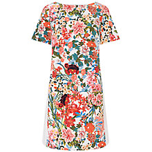 Buy Adrianna Papell Painted Dress, Ivory/Multi Online at johnlewis.com