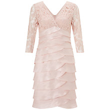 Buy Adrianna Papell Shimmer Tuck Lace Sheath Dress, Petal Online at johnlewis.com