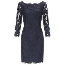 Buy Adrianna Papell 3/4 Sleeve Floral Lace Dress, Navy Online at johnlewis.com
