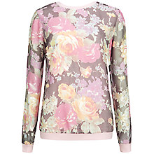 Buy Ted Baker Gizi Colourful Burnout Floral Print Jumper, Pink Online at johnlewis.com