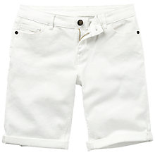 Buy Fat Face Bermuda Denim Shorts, White Online at johnlewis.com