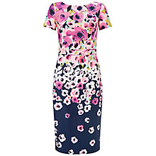 Buy Adrianna Papell Printed Floral Dress, Pink/Multi Online at johnlewis.com