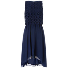 Buy Adrianna Papell Open Lace Chiffon Dress, Dusk Online at johnlewis.com
