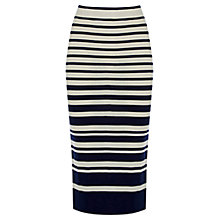 Buy Oasis Engineered Skirt, Blue Online at johnlewis.com