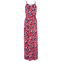 Buy Oasis Wild Bird And Rose Print Maxi Dress, Red/Multi Online at johnlewis.com