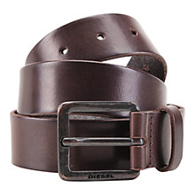 Buy Diesel Leather Belt, Brown Online at johnlewis.com