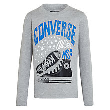 Buy Converse Boys' All Star Sneaker Long Sleeve T-Shirt, Grey Online at johnlewis.com