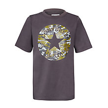 Buy Converse Boys' Camo Logo T-Shirt, Grey Online at johnlewis.com