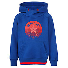 Buy Converse Boys' Cowl Pullover Hoodie, Blue Online at johnlewis.com