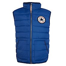 Buy Converse Boys' Quilted Gilet, Blue Online at johnlewis.com