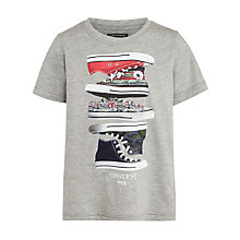 Buy Converse Boys' Sneakers T-Shirt, Grey Online at johnlewis.com