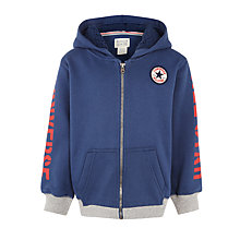 Buy Converse Boys' Patch Zip Hoodie, Navy Online at johnlewis.com