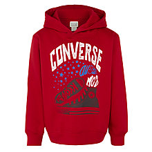 Buy Converse Boys' All Star Pullover Hoodie, Red Online at johnlewis.com