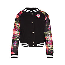 Buy Converse Girls' Varsity Jacket, Black Online at johnlewis.com