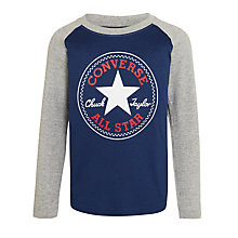 Buy Converse Boys' Chuck Patch Raglan, Navy/Grey Online at johnlewis.com