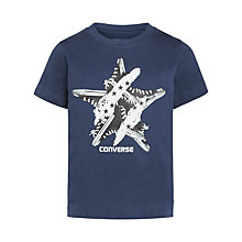 Buy Converse Boys' Sneaker Star T-Shirt, Navy Online at johnlewis.com