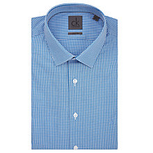 Buy CK Calvin Klein Mini Check Slim Fit Shirt Online at johnlewis.com