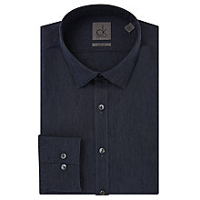 Buy CK Calvin Klein Washed Chambray Shirt, Dark Plum Online at johnlewis.com