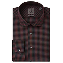 Buy CK Calvin Klein Rome Check Shirt, Claret Online at johnlewis.com