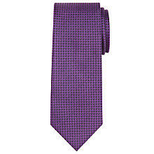 Buy CK Calvin Klein Circle Semi Plain Silk Tie, Purple Online at johnlewis.com