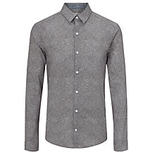 Buy Calvin Klein Multi Print Tailored Fit Shirt, Charcoal/Teal Online at johnlewis.com
