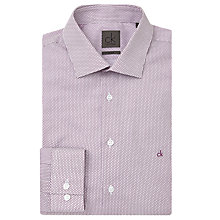 Buy CK Calvin Klein Honeycomb Print Shirt, White/Purple Online at johnlewis.com