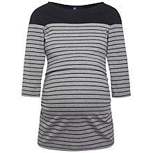 Buy Séraphine Harper Stripe Maternity Nursing Top, Grey/Black Online at johnlewis.com