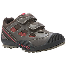 Buy Geox Savage Rip-Tape Trainers, Brown/Red Online at johnlewis.com