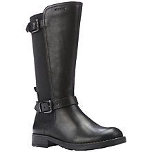 Buy Geox Sofia Leather Boots, Black Online at johnlewis.com