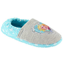 Buy Disney Frozen Closed Back Slippers, Blue/Grey Online at johnlewis.com