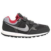 Buy Nike Children's MD Runner Trainers, Black/Grey/Red Online at johnlewis.com