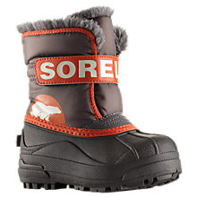 Buy Sorel Snow Commander Boots, Black/Orange Online at johnlewis.com