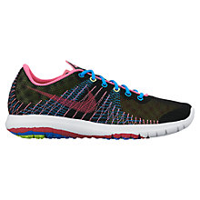 Buy Nike Flex Fury Running Trainers, Black/Multi Online at johnlewis.com