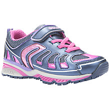 Buy Geox Bernie Rip-Tape Trainers, Pink/Blue Online at johnlewis.com