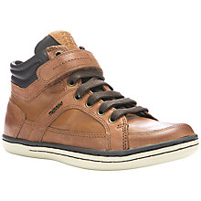 Buy Geox Garcia Hi Top Casual Trainers, Brown Online at johnlewis.com