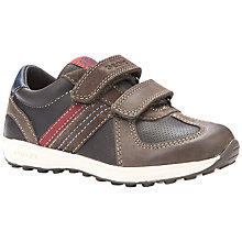 Buy Geox Xitizen Rip-Tape Sport Shoes, Brown/Red Online at johnlewis.com