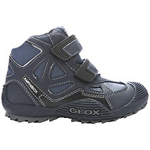 Buy Geox Savage Amphibiox Waterproof Boot, Black/Navy Online at johnlewis.com